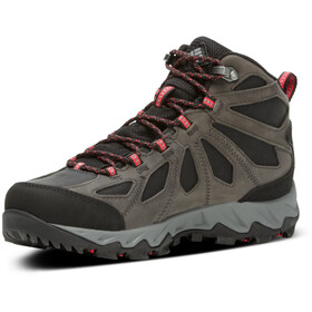 Columbia Lincoln Pass Botas de piel corte medio Outdry Mujer, black/red camelhia